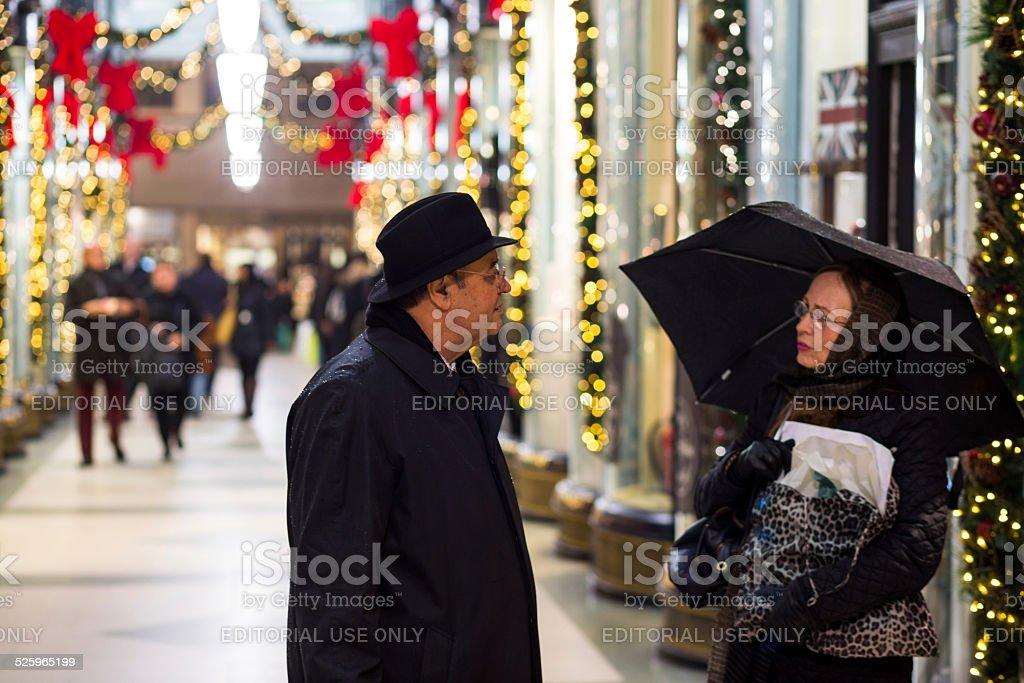 Shoppers in Burlington Arcade stock photo