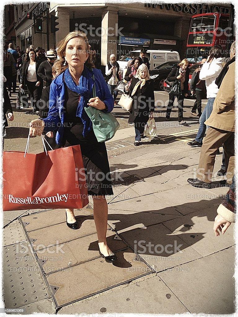 Shoppers, Oxford Street, London stock photo
