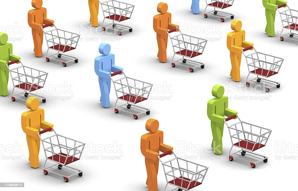 Shoppers royalty-free stock photo