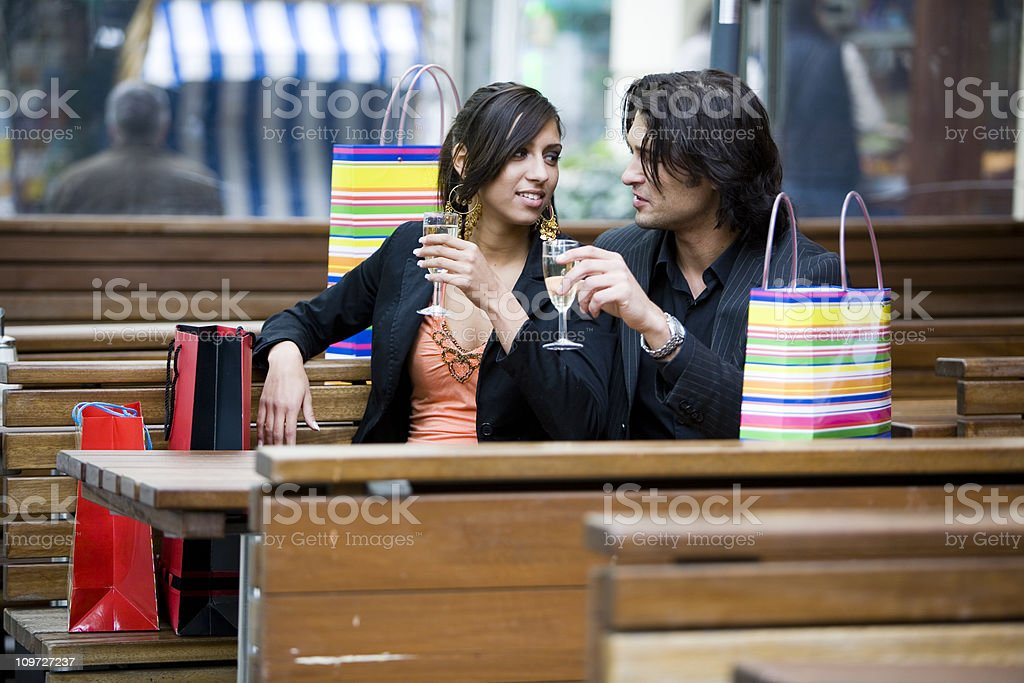 shopping: a welcome break royalty-free stock photo