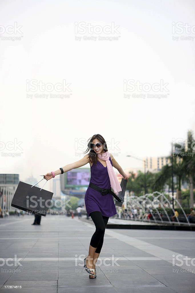 Shopping action royalty-free stock photo