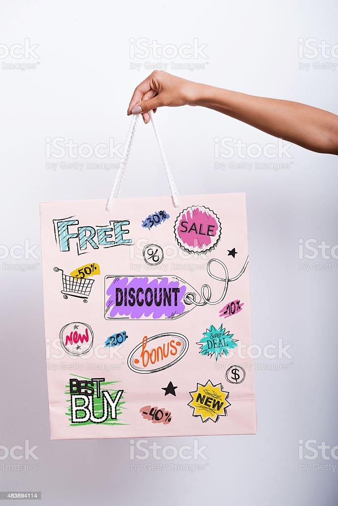 Shopping advantages. stock photo