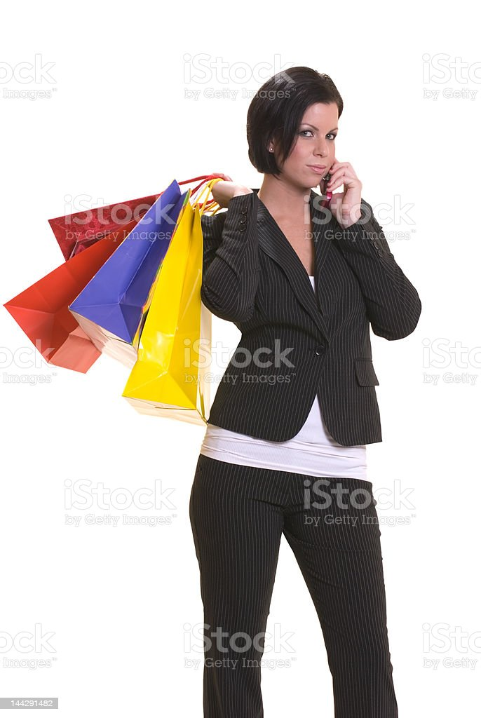 Shopping after work stock photo
