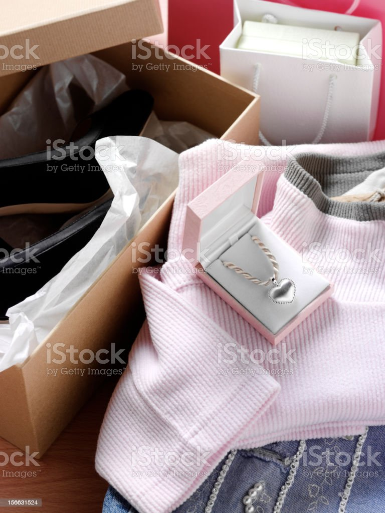 Shopping and Clothes royalty-free stock photo