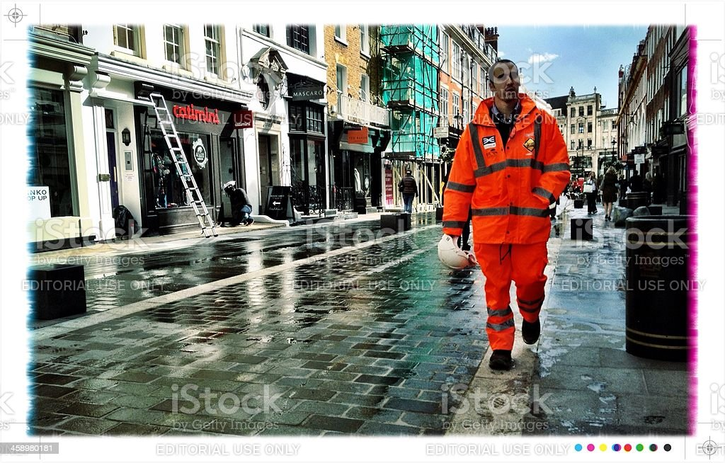Shopping and construction, London. royalty-free stock photo