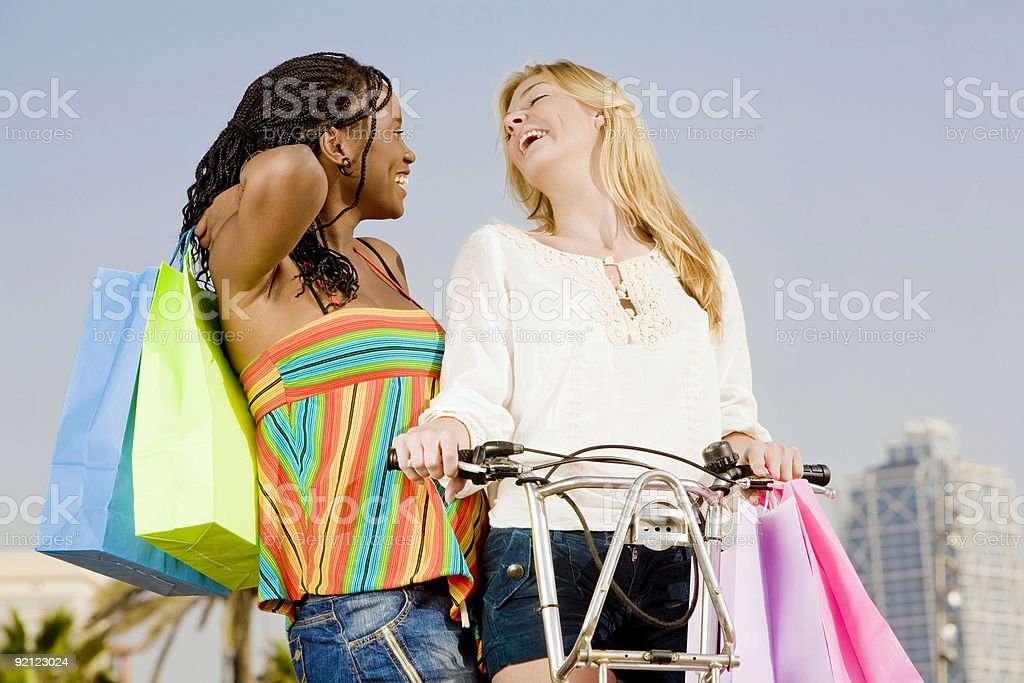Shopping and fun royalty-free stock photo