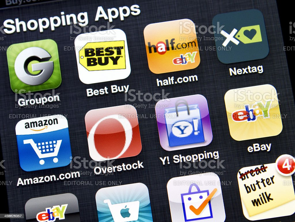 Shopping Apps stock photo