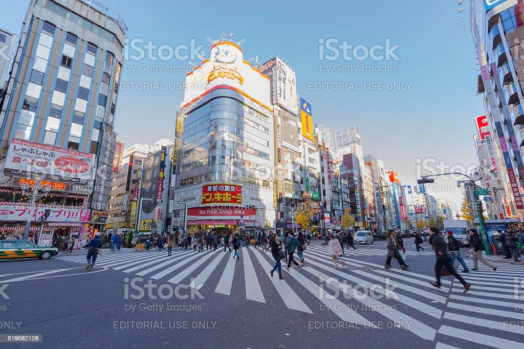 Shopping area in Shinjuku stock photo