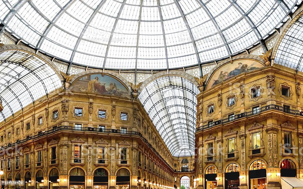 Shopping art gallery in Milan royalty-free stock photo