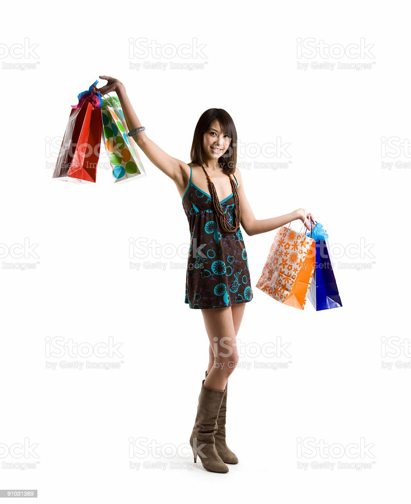 Shopping asian woman royalty-free stock photo