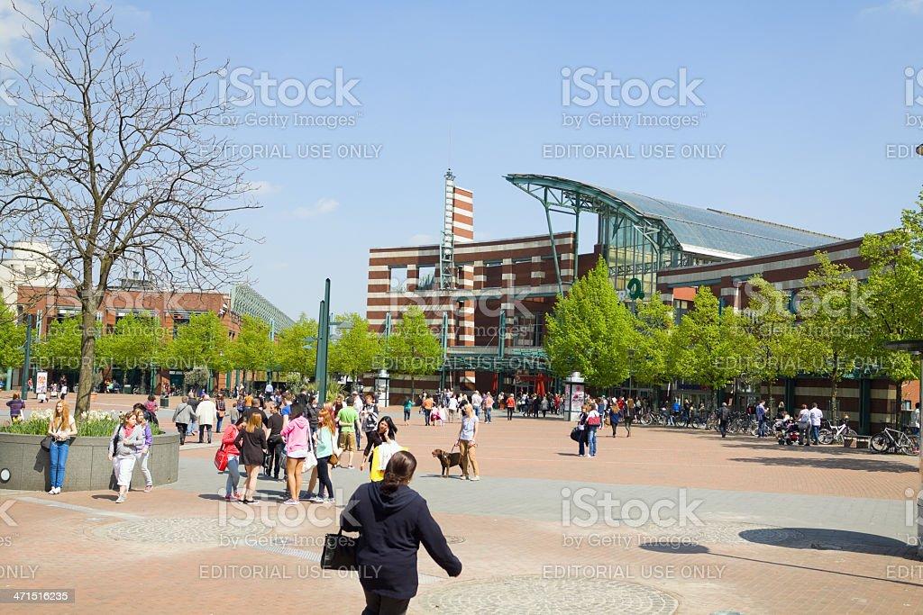 Shopping at CentrO stock photo