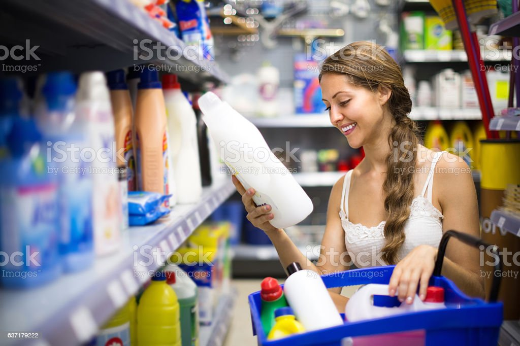 Shopping at household store stock photo