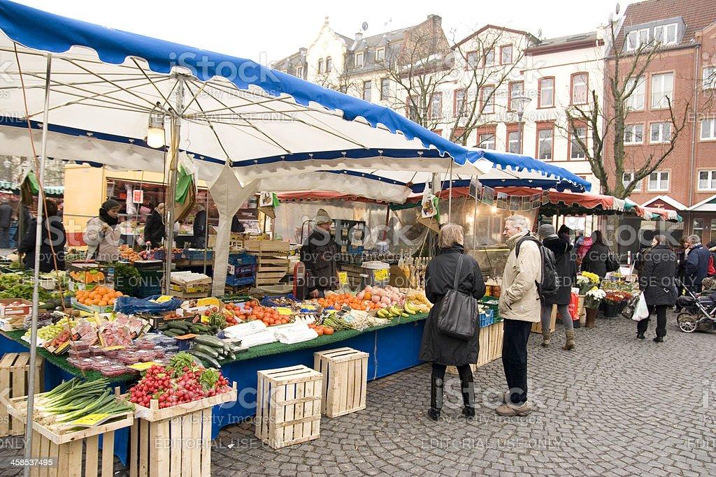 Shopping at the farmers market royalty-free stock photo