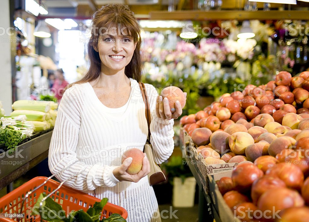 Shopping at the Market royalty-free stock photo