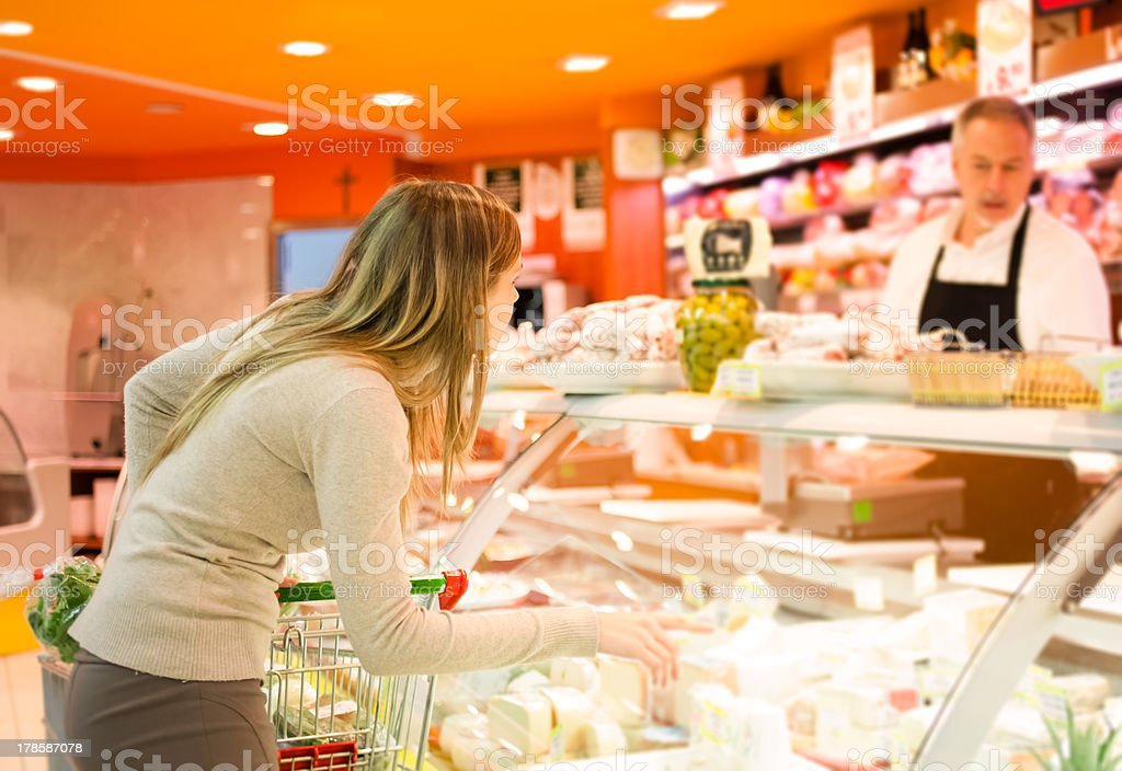 Shopping at the supermarket royalty-free stock photo