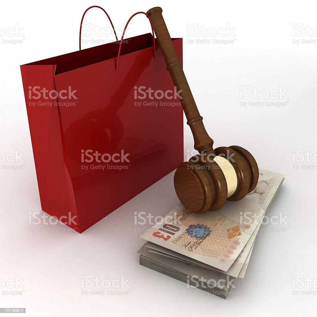 Shopping Auction royalty-free stock photo