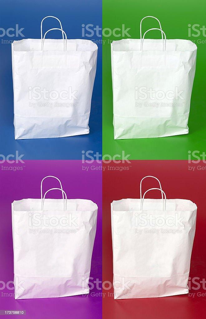Shopping Bag - four colours royalty-free stock photo