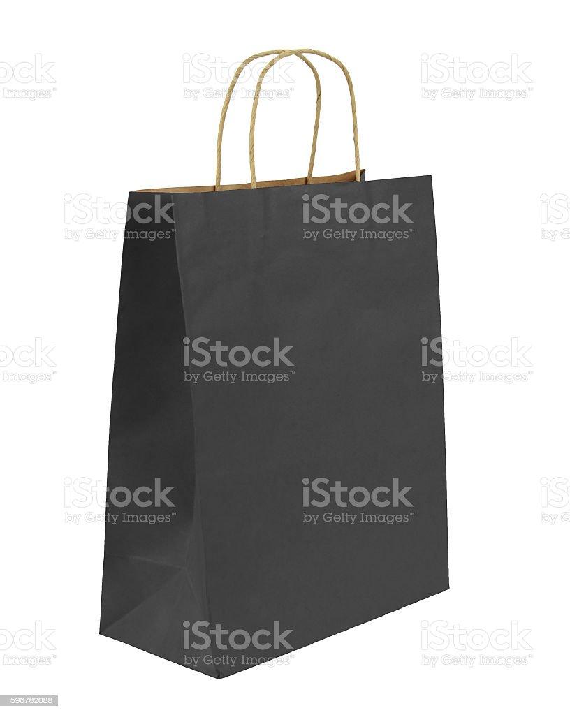 Shopping bag, isolated on white background. stock photo