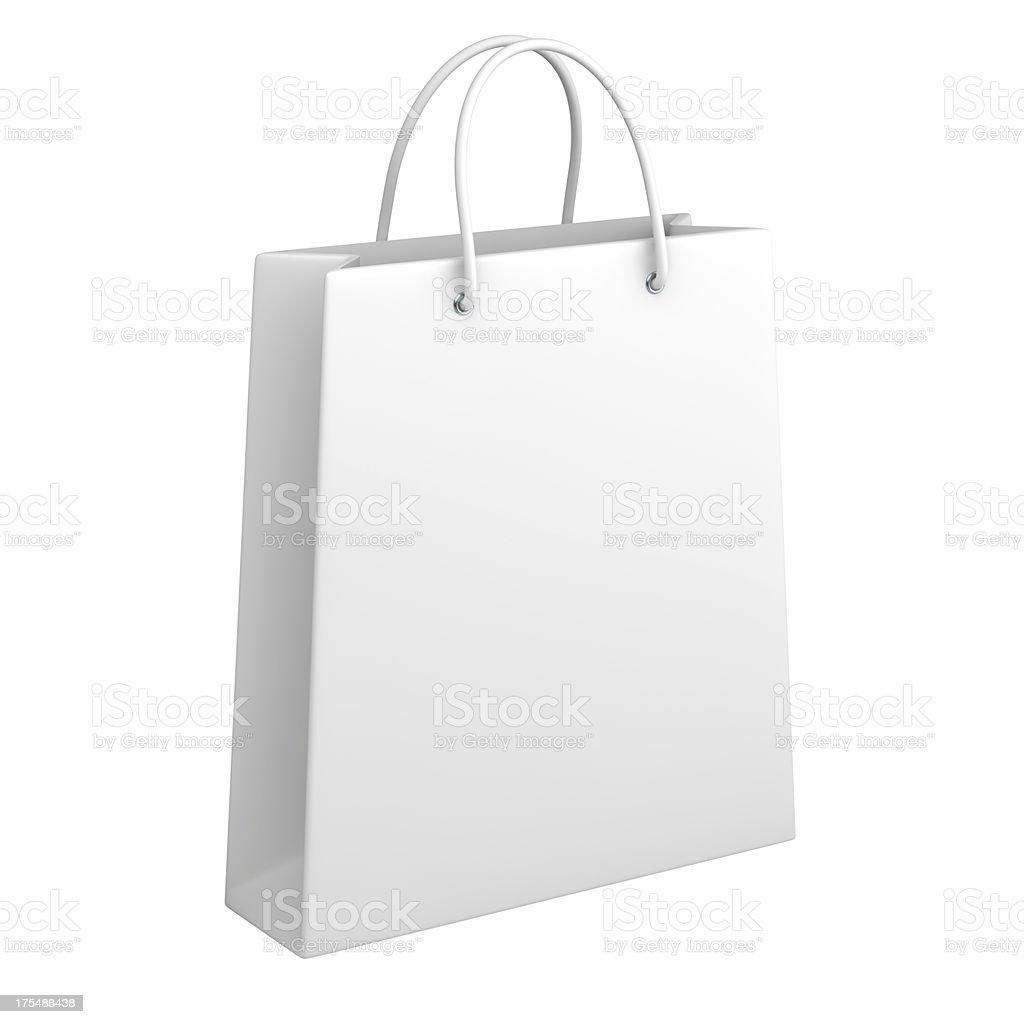 Shopping bag on white royalty-free stock photo