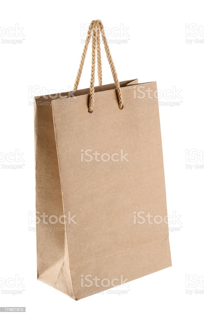 Shopping Bag (clipping paths) royalty-free stock photo