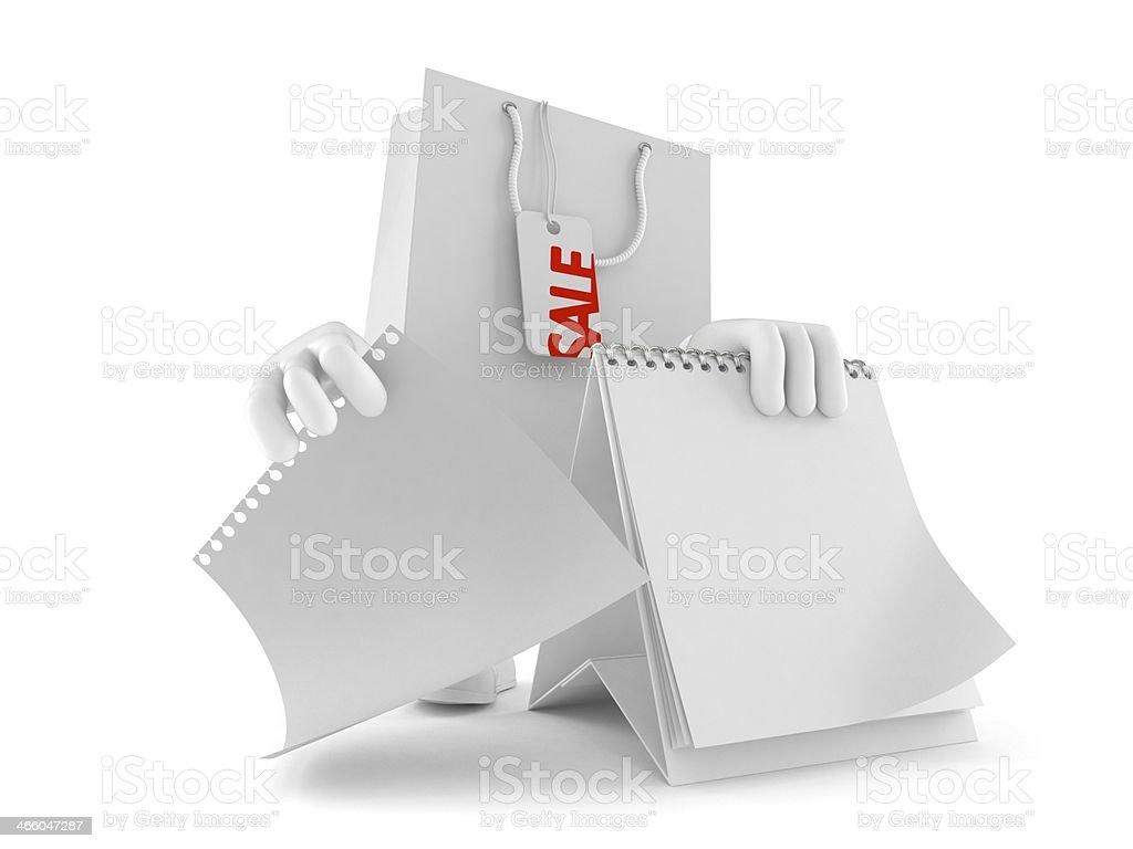 Shopping bag toon royalty-free stock photo