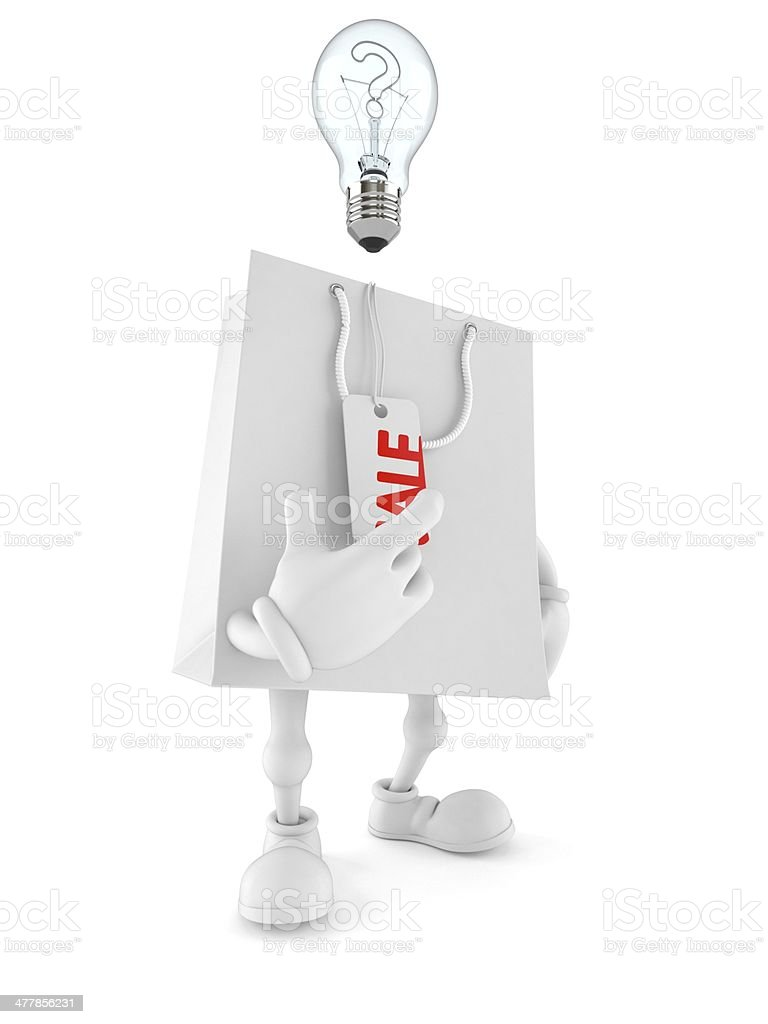 Shopping bag toon royalty-free stock photo