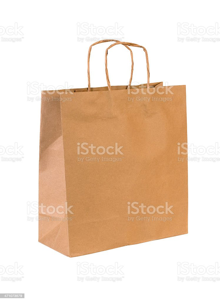 Shopping Bag w/Clipping Path stock photo
