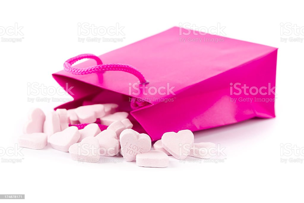 shopping bag with candies stock photo