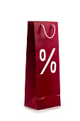 shopping bag with the percent symbol