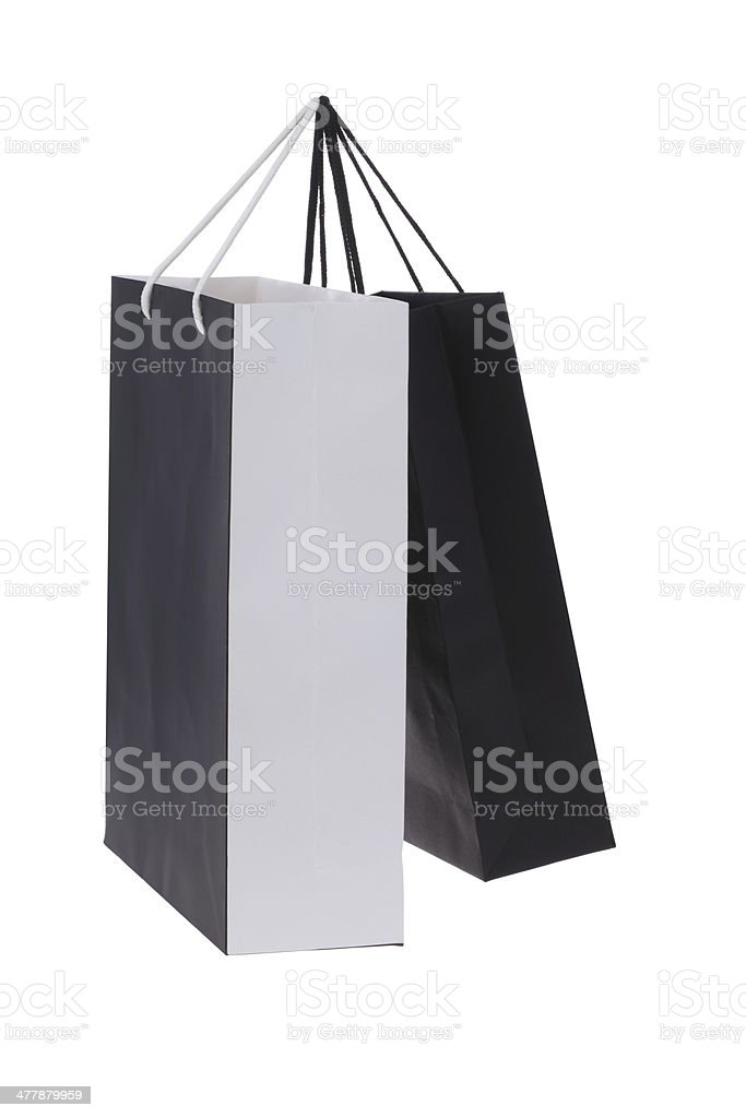 Shopping Bags on White Background royalty-free stock photo