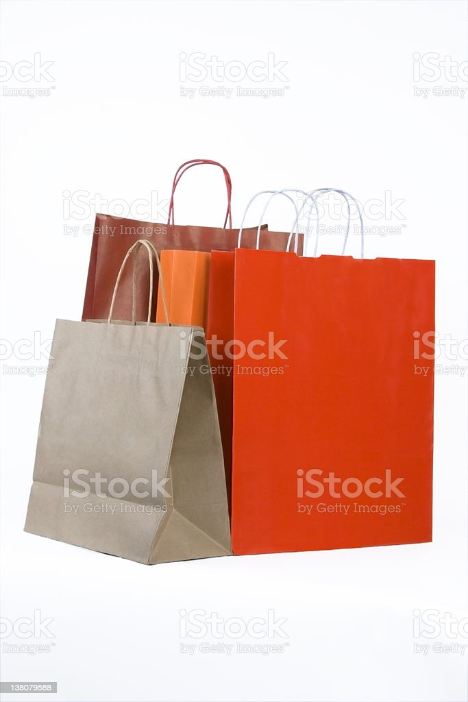 Shopping bags (Clipping Path) royalty-free stock photo