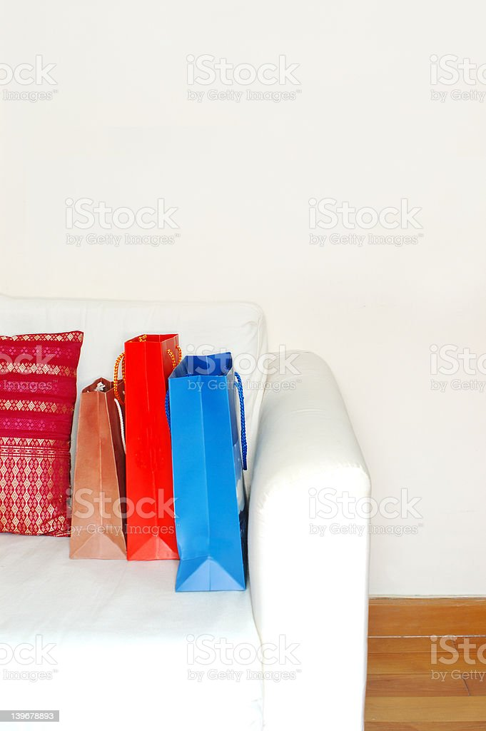 shopping bags (high key) royalty-free stock photo