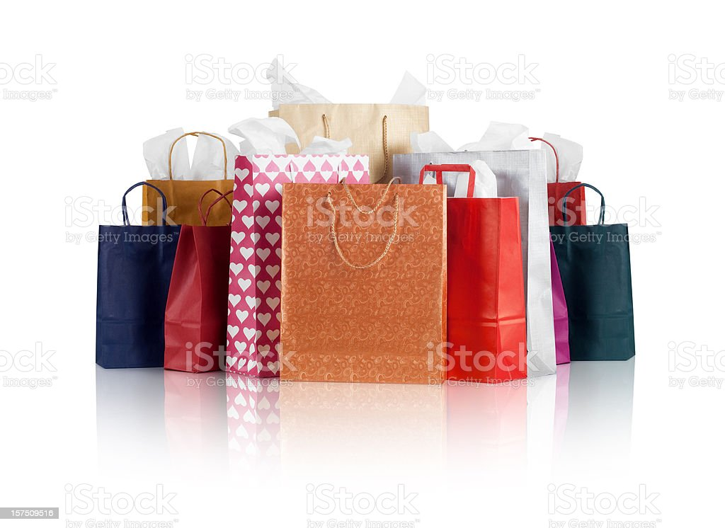 Shopping Bags w/clipping path stock photo