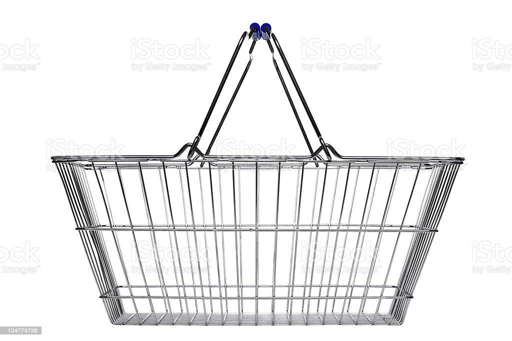 Shopping basket isolated on white stock photo