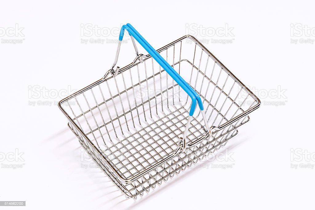 Shopping Basket Isolation stock photo