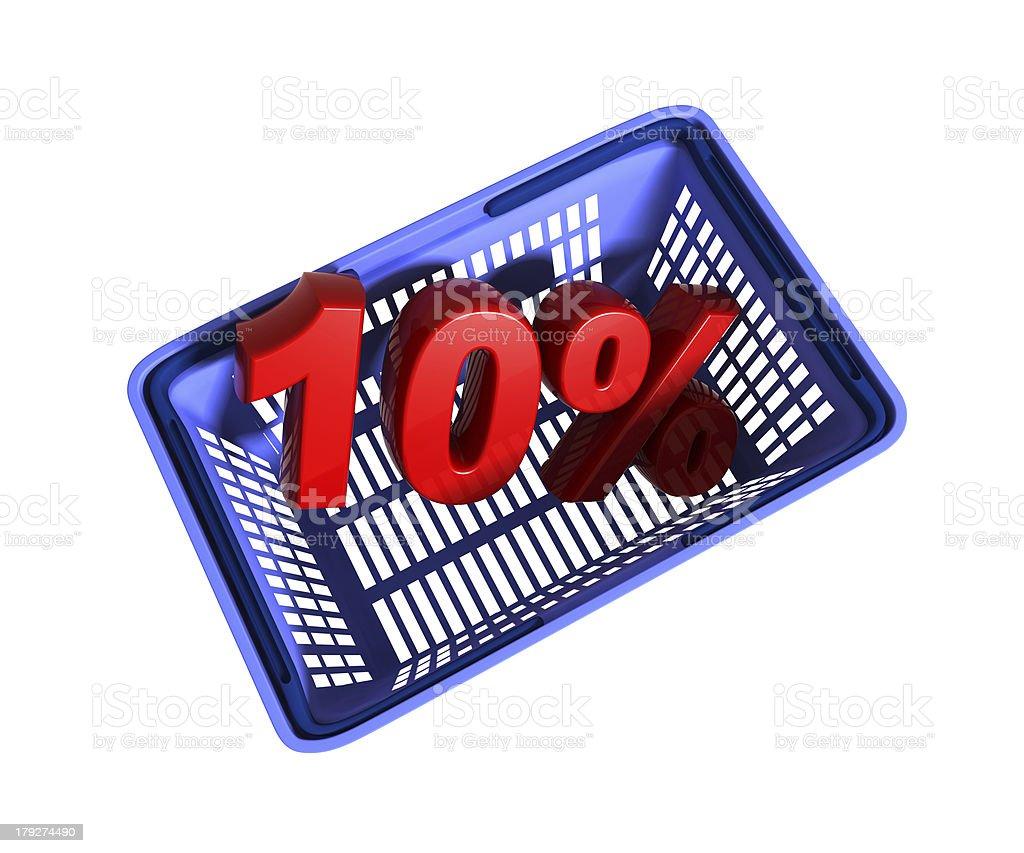 shopping basket royalty-free stock photo