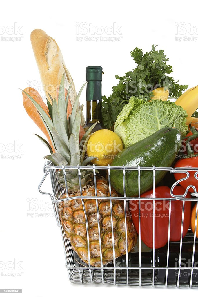 shopping basket royalty-free stock photo