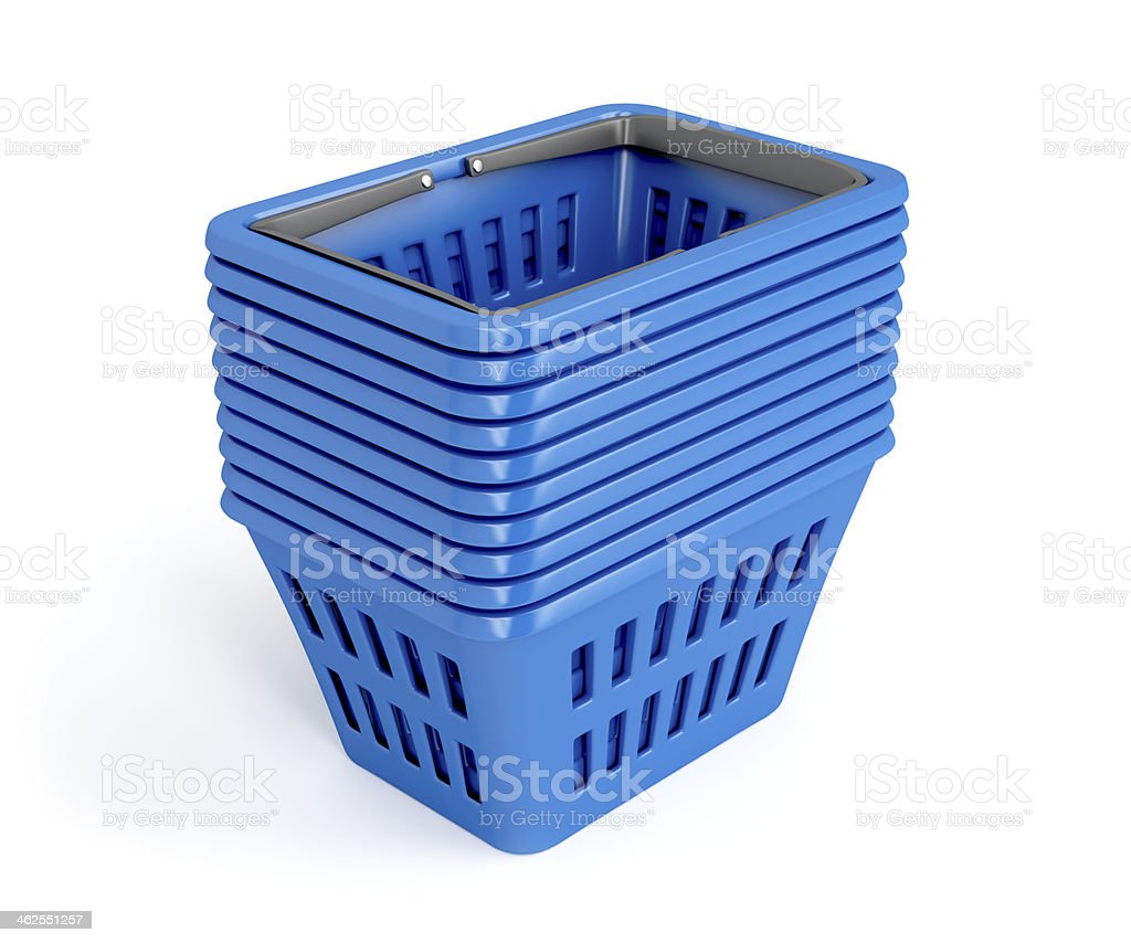 Shopping baskets royalty-free stock photo