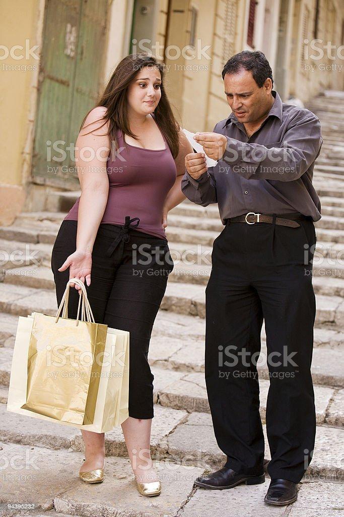 Shopping Bill stock photo