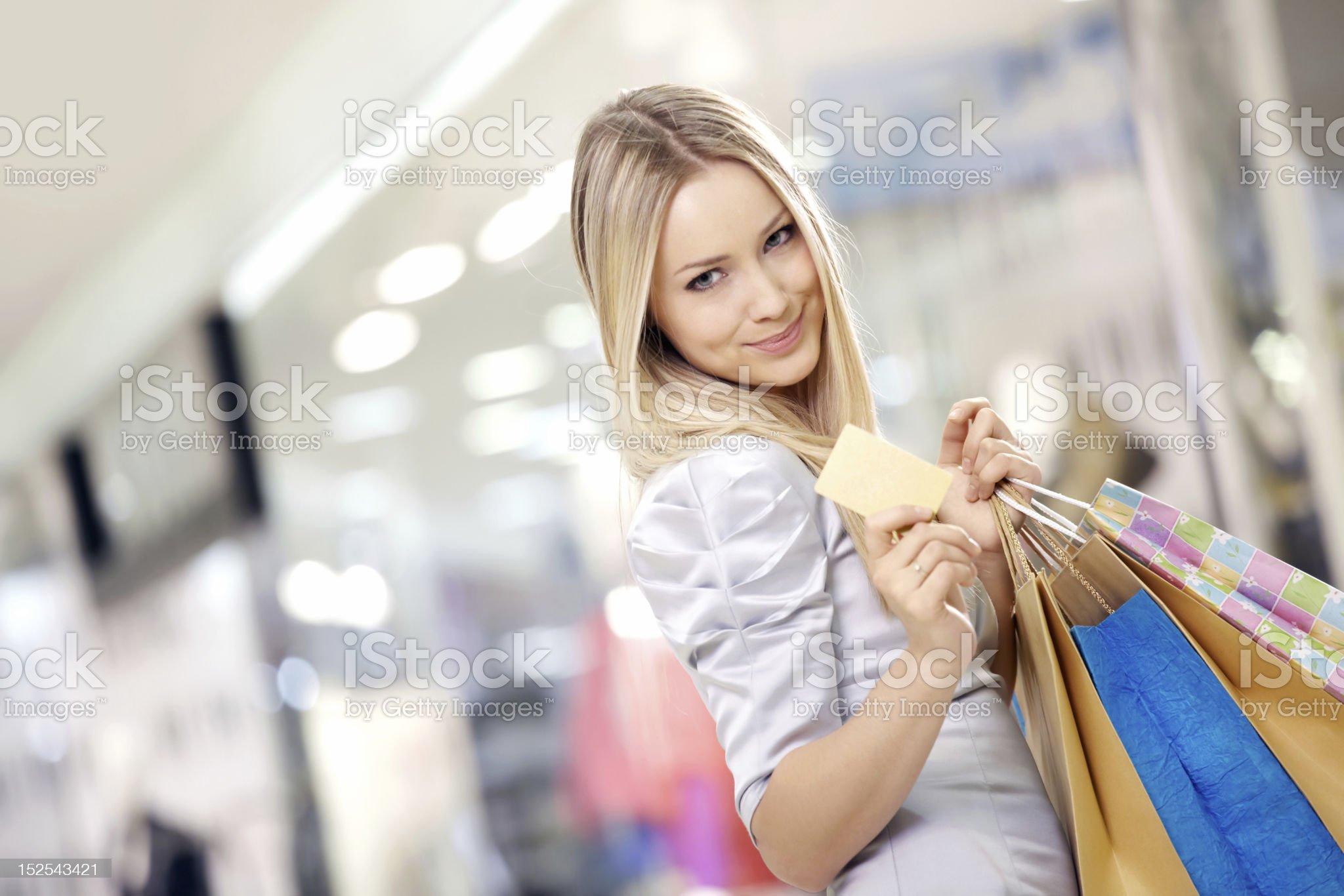Shopping blonde royalty-free stock photo