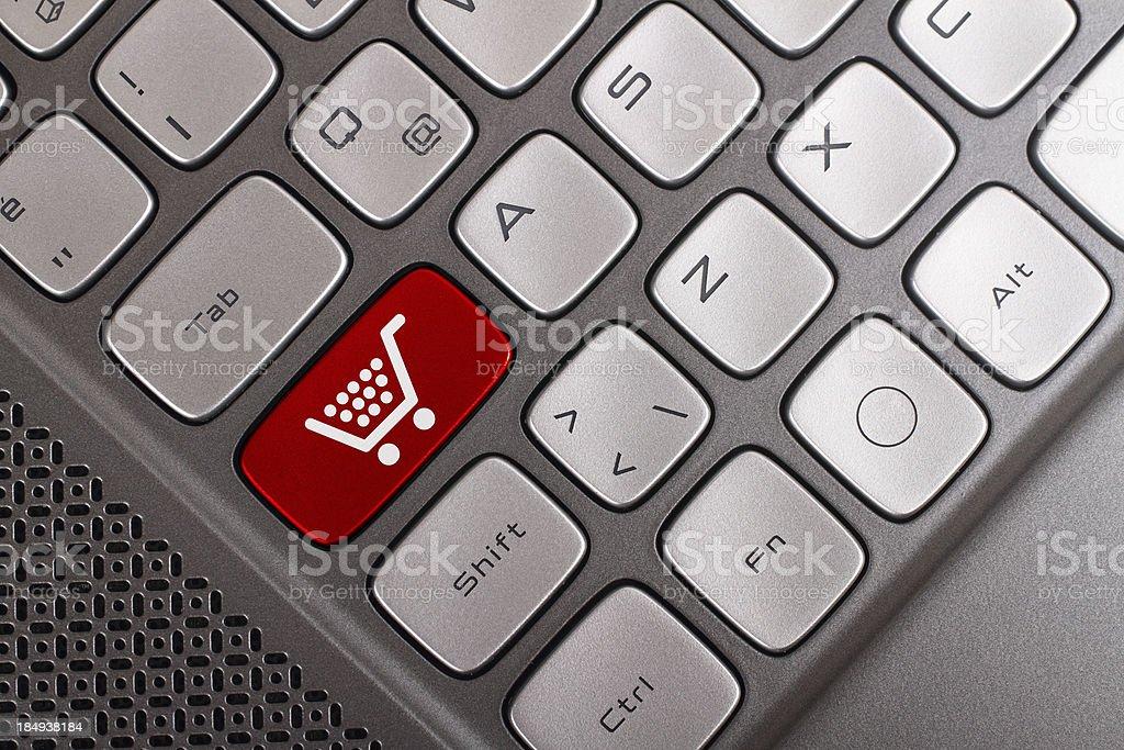 Shopping button royalty-free stock photo