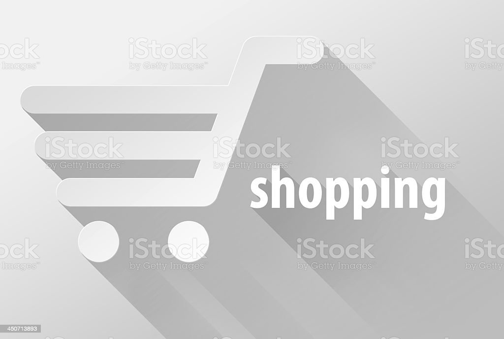 Shopping cart and sale widget icon 3d illustration royalty-free stock photo