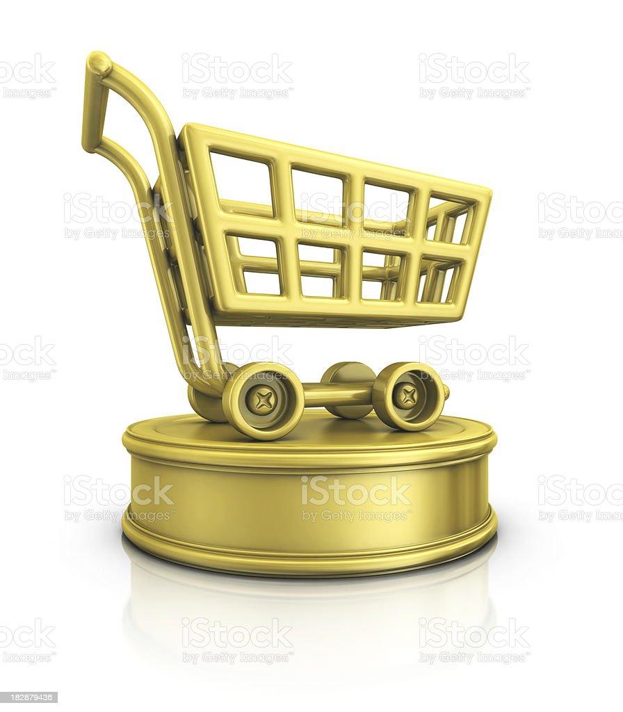 shopping cart award stock photo