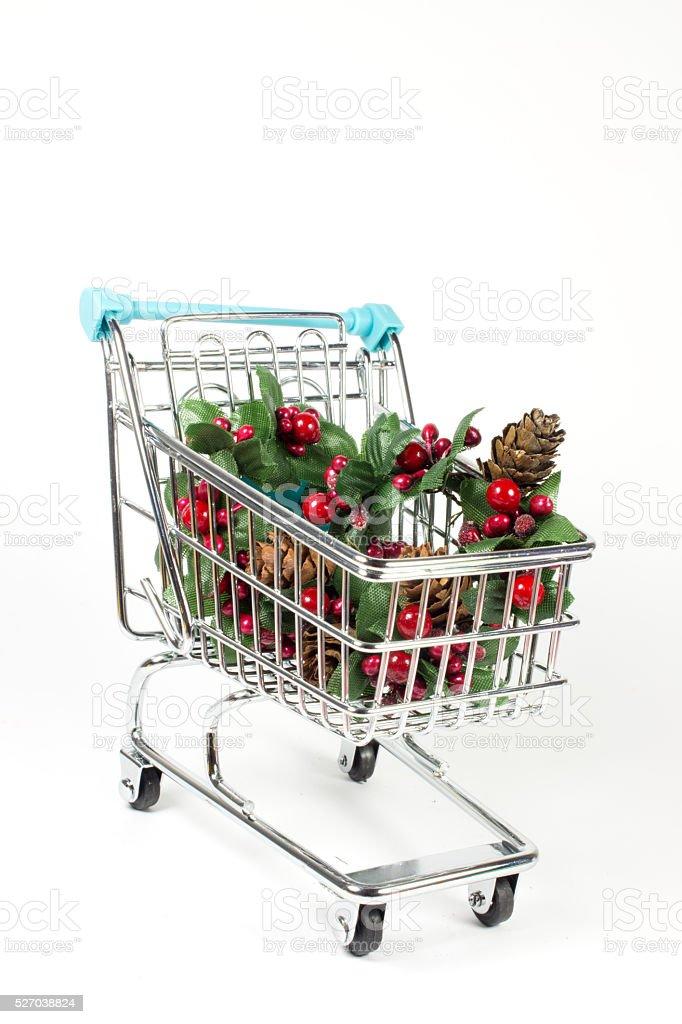 Shopping Cart Christmas stock photo