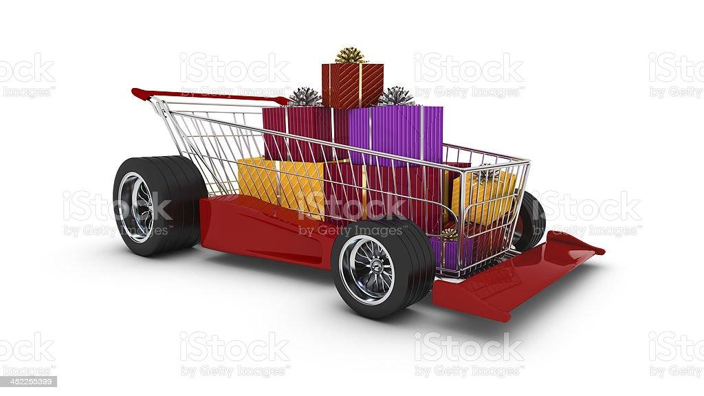 - Einkaufswagen корзину Стоковые фото Стоковая фотография