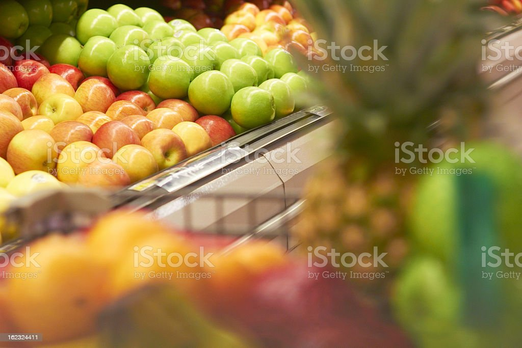 Shopping Cart Full Of Fruit royalty-free stock photo