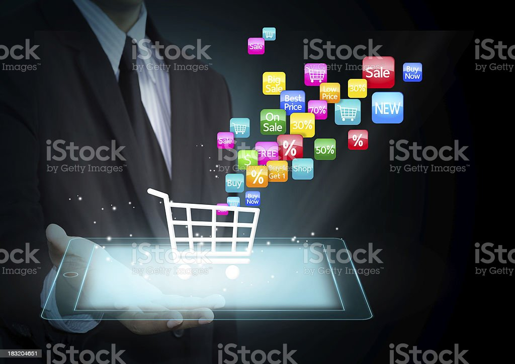 Shopping cart icon royalty-free stock photo