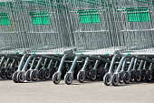 shopping cart in supermarket at park