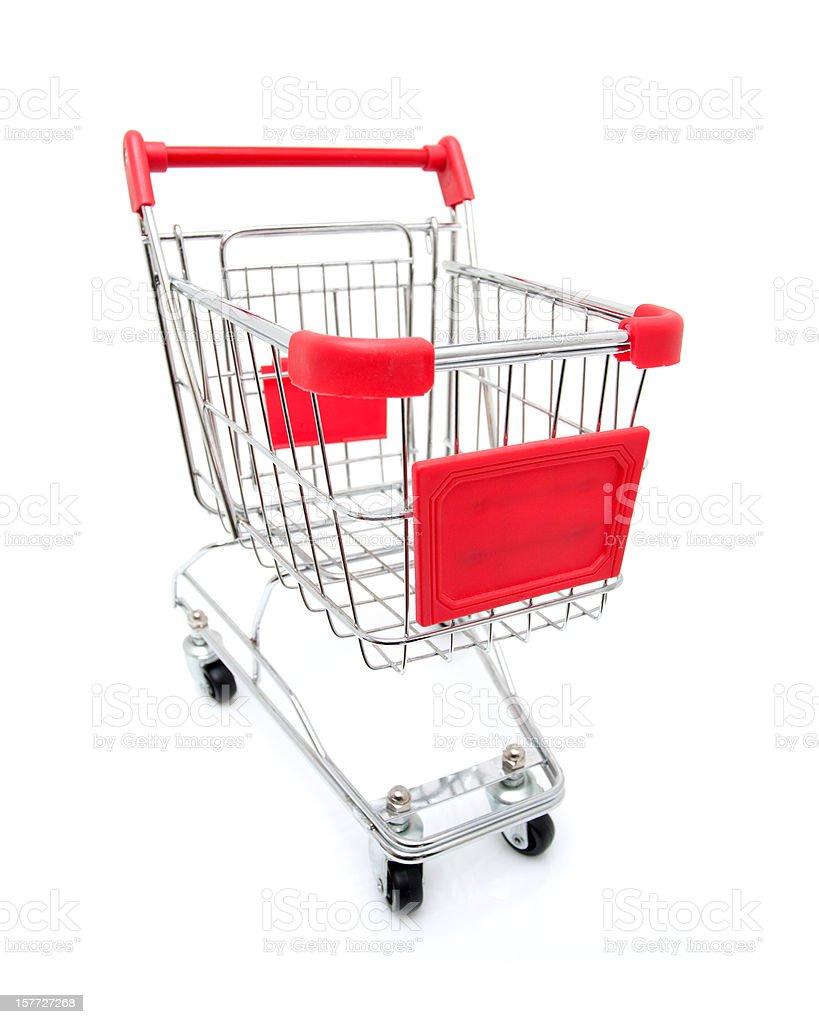 Shopping Cart isolated on white background royalty-free stock photo