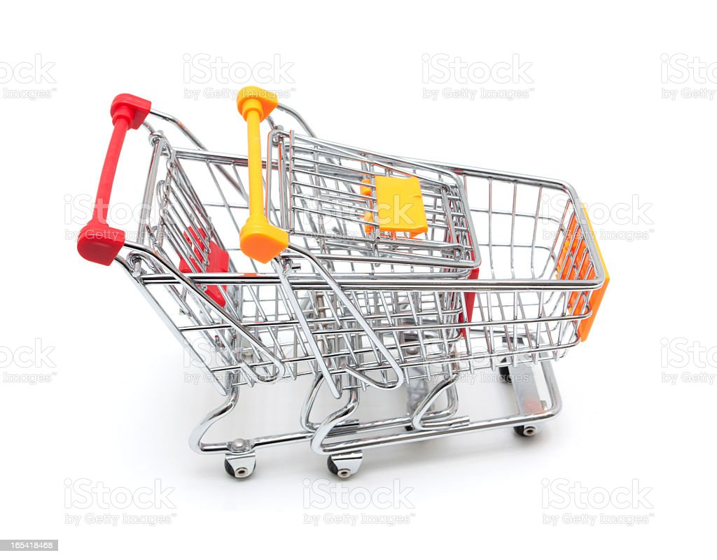 Shopping Cart isolated on white background stock photo
